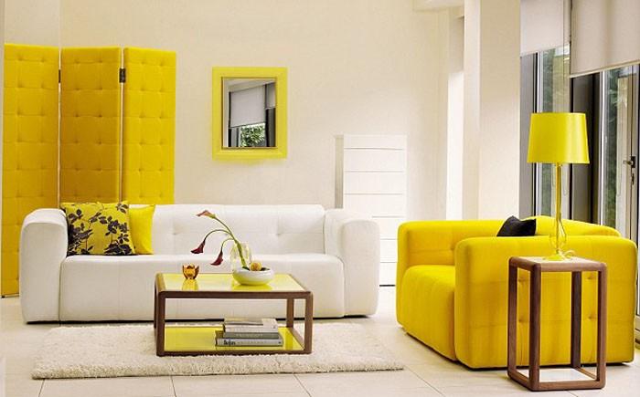 idees couleurs jaune deco photo