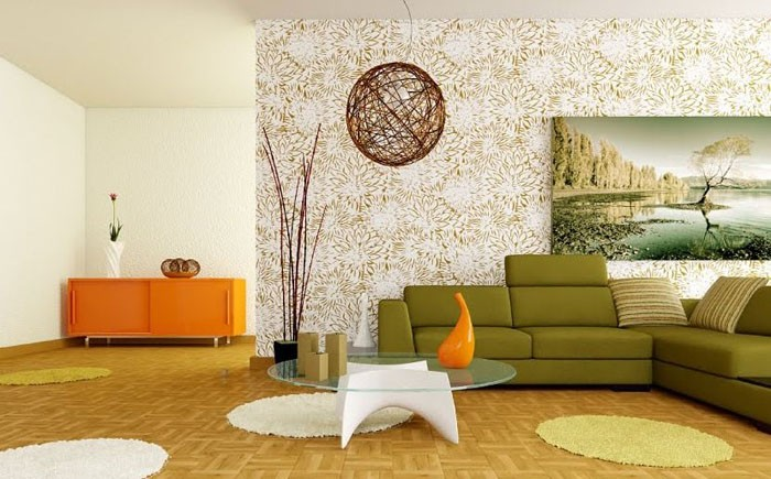 green and orange living room decor id 233 es d 233 co bien associer les couleurs pour un 24307